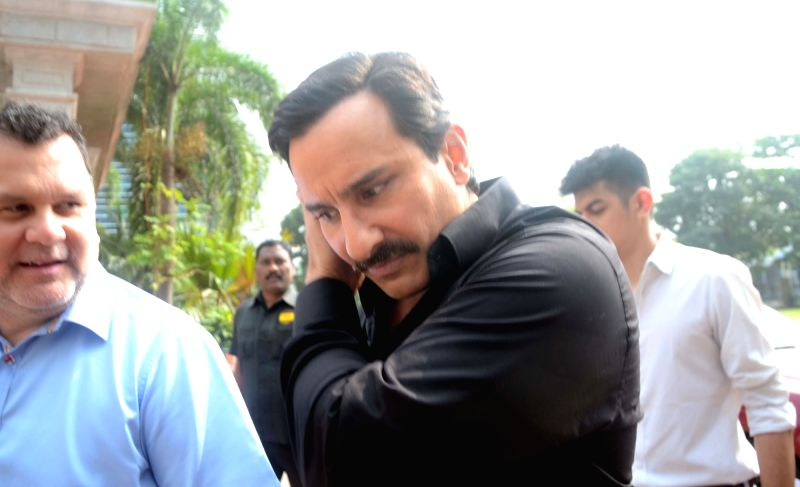 Actor Saif Ali Khan arrives at the launch of Mumbai T20 League by Mumbai Cricket Association (MCA) on Dec 7, 2017. - Saif Ali Khan