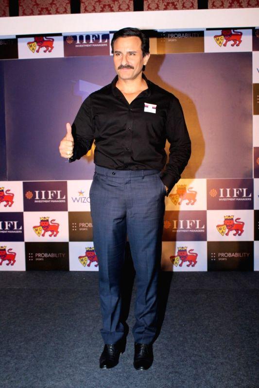 Actor Saif Ali Khan at the launch of Mumbai T20 League by Mumbai Cricket Association (MCA) on Dec 7, 2017. - Saif Ali Khan