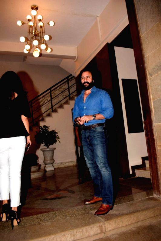 "Actor Saif Ali Khan at the pre-release party of upcoming film ""Karwaan"" in Mumbai on July 26, 2018. - Saif Ali Khan"