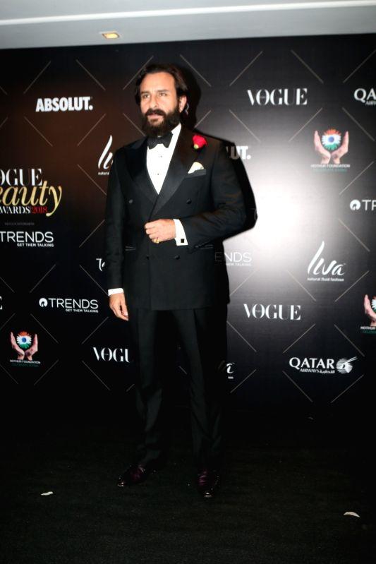 "Actor Saif Ali Khan at the red carpet of ""Vogue Beauty Awards"" in Mumbai on July 31, 2018. - Saif Ali Khan"