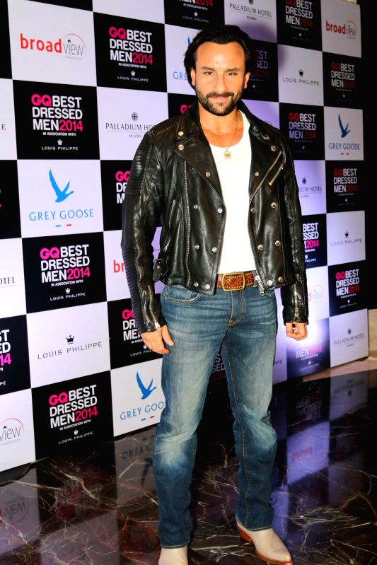 Actor Saif Ali Khan during GQ Best Dressed Men 2014 awards at Palladium Hotel in Mumbai. - Saif Ali Khan