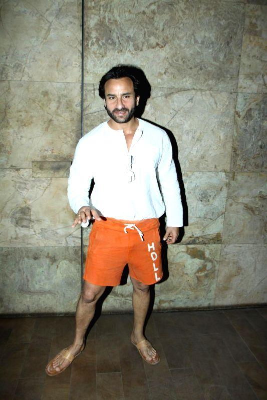 Actor Saif Ali Khan during the screening of film Lekar Hum Deewana Dil in Mumbai, on July 1, 2014. - Saif Ali Khan