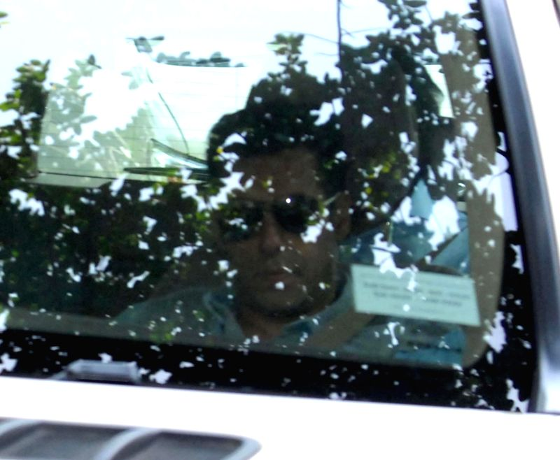 Actor Salman Khan arrives to appear before a Mumbai court in connection with a 2002 hit-and-run case on June 23, 2014.