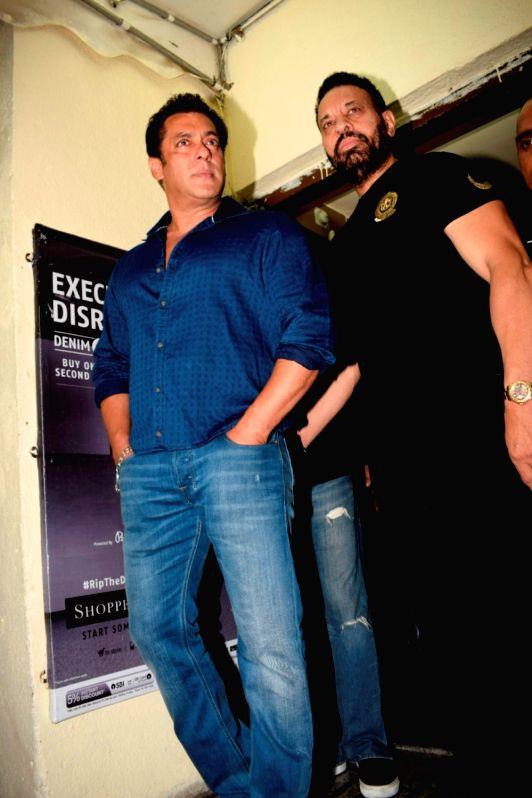 "Actor Salman Khan at the special screening of his upcoming film ""Race 3"" in Mumbai on June 12, 2018. - Salman Khan"