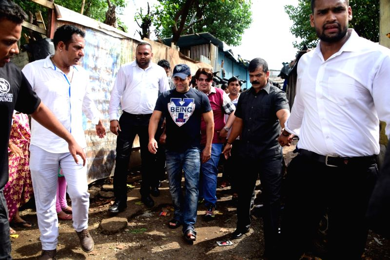 "Actor Salman Khan during a programme organised to hand over  ""public utility toilets"" to people of Madras Pada in Mumbai on June 9, 2017. - Salman Khan"