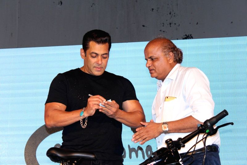 Salman launches Being Human electric bicycles - Salman Khan