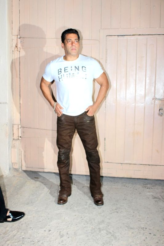 "Actor Salman Khan during the promotion of film ""Tubelight"" at Mehboob Studio, in Mumbai on June 13, 2017. - Salman Khan"