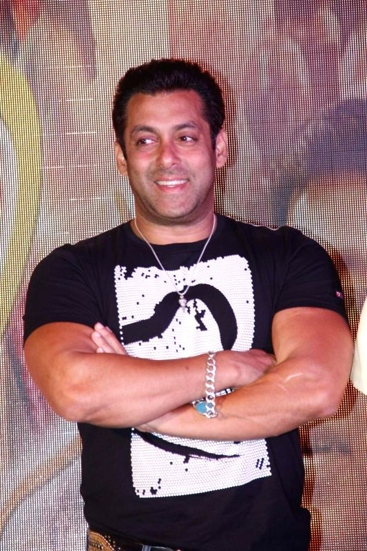 Actor Salman Khan during the trailer of Marathi film Janiva in Mumbai, on July 10, 2015. - Salman Khan