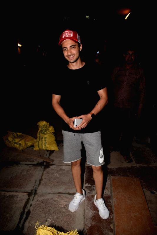 Actor Salman Khan's brother-in-law Aayush Sharma seen at a gym in Mumbai on Feb 2, 2018. - Salman Khan and Aayush Sharma