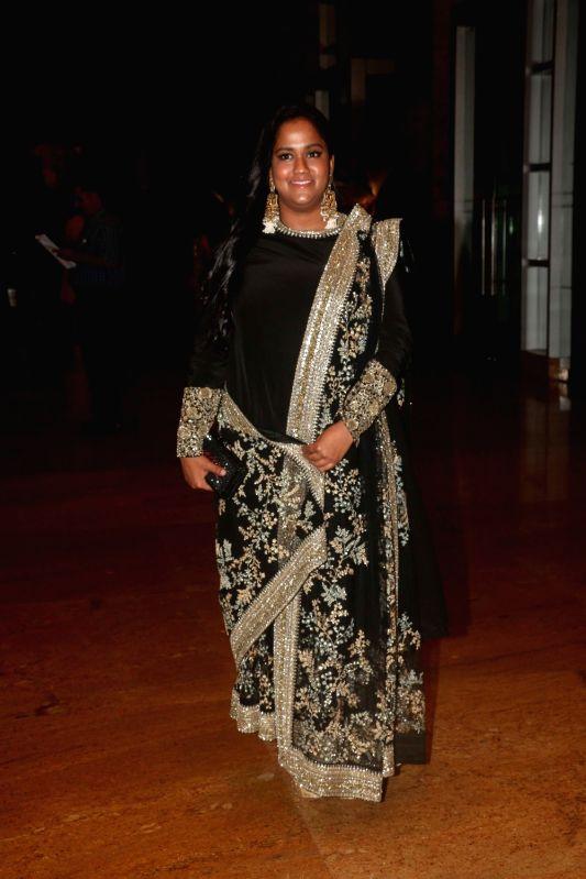 Actor Salman Khan's sister Arpita Khan during sangeet ceremony of All India Football Federation (AIFF) President Praful Patel's daughter Poorna Patel  in Mumbai on July 19, 2018. - Salman Khan, Arpita Khan, Praful Patel and Poorna Patel