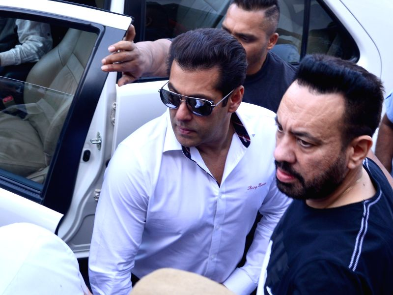 Actor Salman Khan with his bodyguard Shera. (File Photo: IANS) - Salman Khan