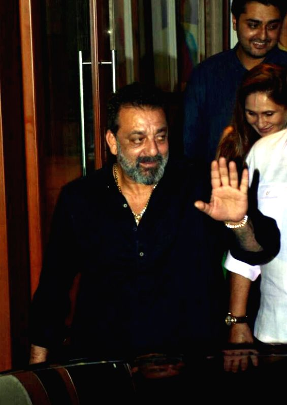 Actor Sanjay Dutt arrives to attend his birthday party, in Mumbai, on July 29, 2018. - Sanjay Dutt