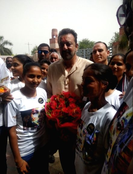 Actor Sanjay Dutt at Sheroes Cafe in Lucknow. - Sanjay Dutt