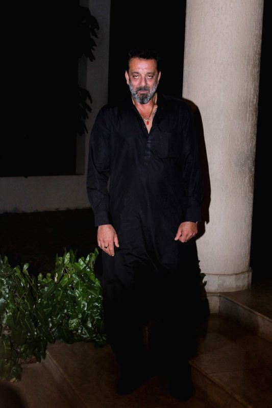 Actor Sanjay Dutt during the celebration of the film Bhoomi completion in Mumbai on May 5, 2017. - Sanjay Dutt