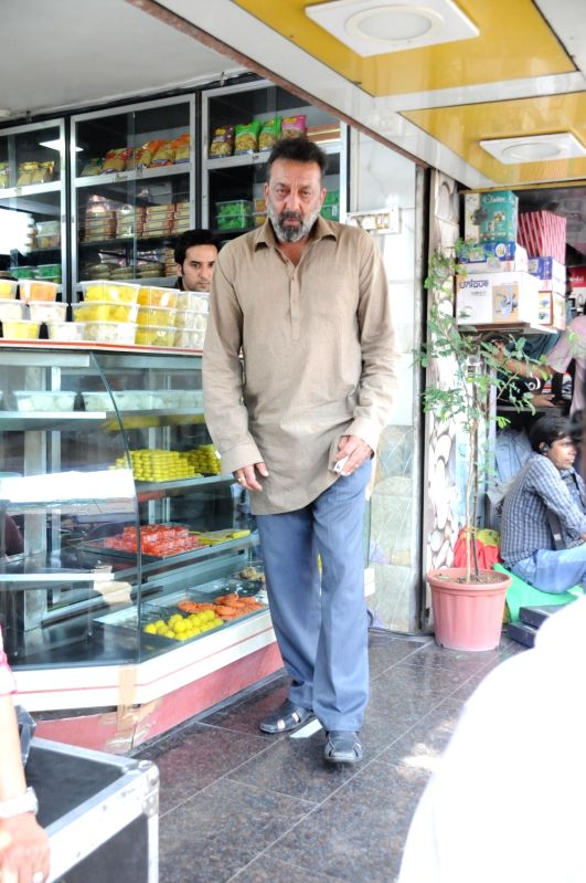 Actor Sanjay Dutt during the location of shooting of film Bhoomi in Mumbai on April 25, 2017. - Sanjay Dutt