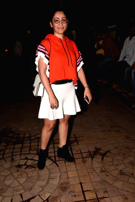 "Actor Sanjay Dutt's wife Manyata Dutt at the special screening of film ""Saheb Biwi Aur Gangster 3"" in Mumbai on July 26, 2018. - Sanjay Dutt and Manyata Dutt"