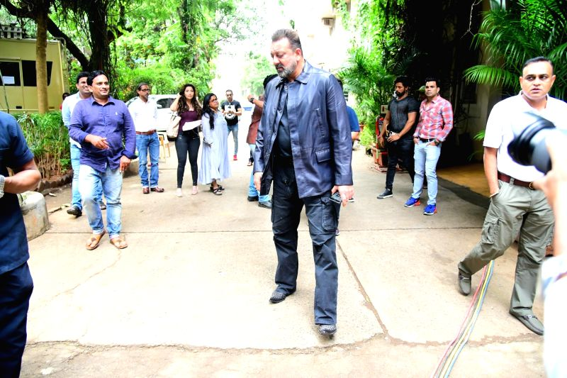 Actor Sanjay Dutt seen at a studio in Bandra, Mumbai on July 12, 2018. - Sanjay Dutt