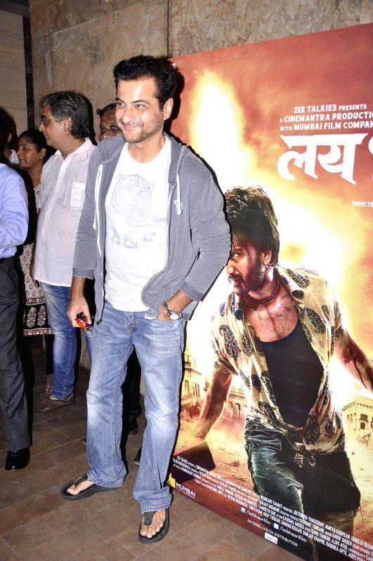 Actor Sanjay Kapoor during the special screening of Marathi film Lai Bhaari on July 9, 2014. - Sanjay Kapoor