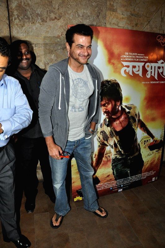 Actor Sanjay Kapoor during the special screening of Marathi film Lai Bhaari on July 9, 2014. - Sanjay Kapoor