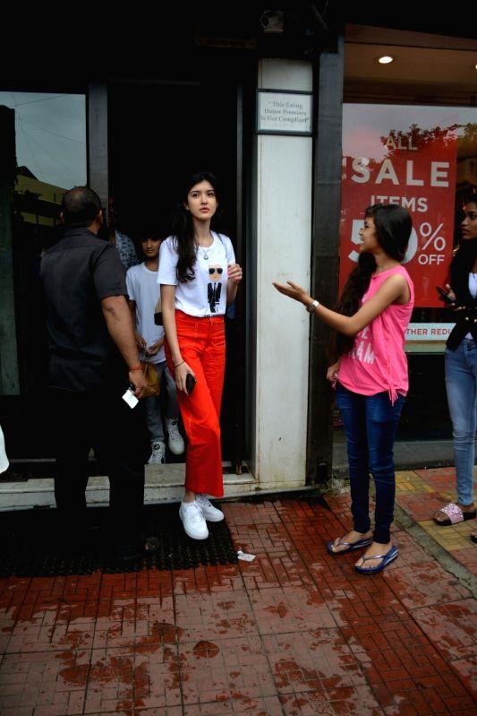 Actor Sanjay Kapoor's daughter Shanaya Kapoor seen at Mumbai's Bandra on July 22, 2018. - Sanjay Kapoor and Shanaya Kapoor