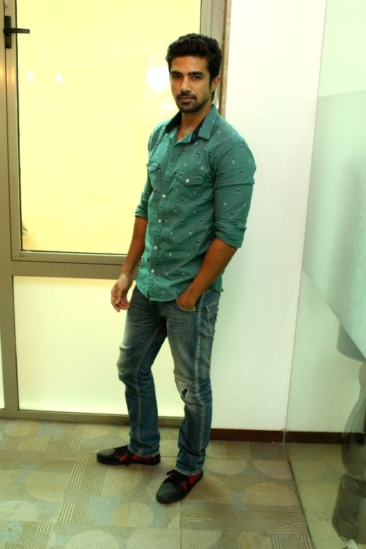 Actor Saqib Saleem during a media interaction, in Mumbai on May 17, 2016. - Saqib Saleem