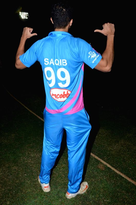 Actor Saqib Saleem during the Corporate Cricket Match Season 2, in Mumbai, on Oct 26, 2015. - Saqib Saleem
