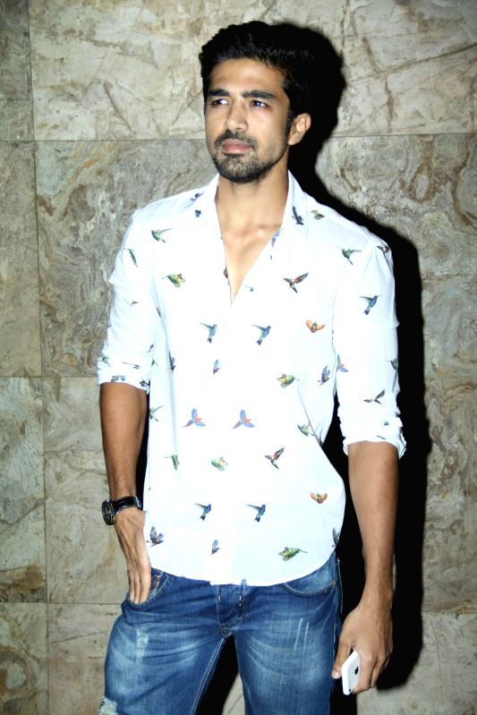 Actor Saqib Saleem during the special Screening of film Hawaa Hawaai at Lightbox in Mumbai on 3rd May 2014. - Saqib Saleem