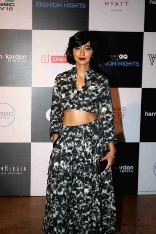 Actor Sayani Gupta during the Van Heusen GQ Fashion Nights 2015 Day 2 in Mumbai on Dec 2, 2015. - Sayani Gupta