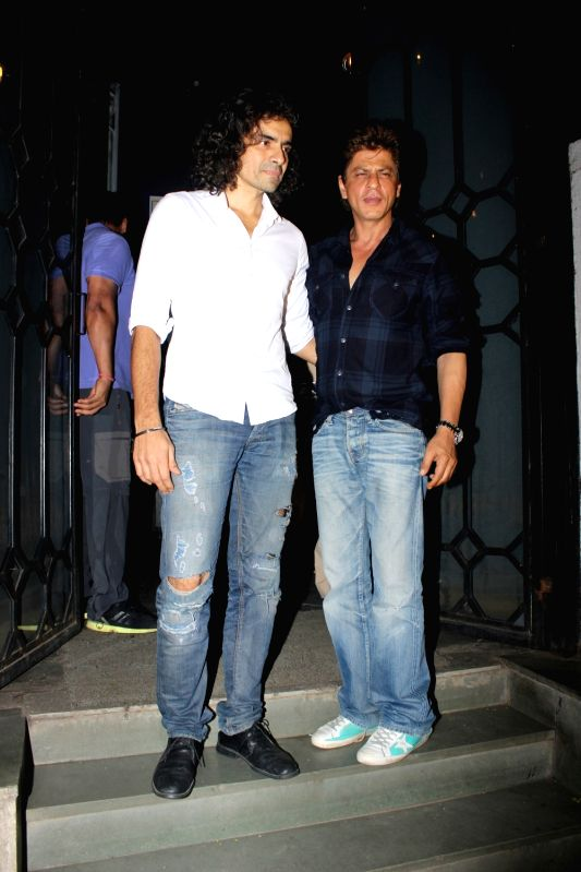 Actor Shah Rukh Khan and filmmaker Imtiaz Ali snapped at The Korner House party in Mumbai on June 10, 2017. Shah Rukh Khan will be seen in Imtiaz Ali`s movie called Jab Harry Met Sejal for ... - Shah Rukh Khan
