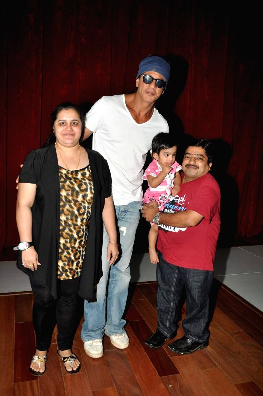 Actor Shah Rukh Khan celebrates Father's Day with Smile Foundation children at KidZania at R City Mall, Ghatkopar in Mumbai on Sunday, June 15, 2014. - Shah Rukh Khan