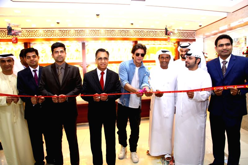"Actor Shah Rukh Khan during inauguration of ""Kalyan Jewellers"" showroom in Dubai on April 26, 2018. - Shah Rukh Khan"