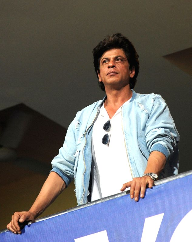 Actor Shah Rukh Khan during IPL 2017 second qualifier match between Kolkata Knight Riders and Sunrisers Hyderabad at M Chinnaswamy Stadium in Bengaluru on May 17, 2017. - Shah Rukh Khan
