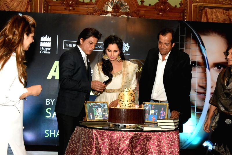 Actor Shah Rukh Khan during the launch of Sania Mirza's autobiography 'Ace Against Odds' in Hyderabad, on July 13, 2016. - Shah Rukh Khan and Sania Mirza