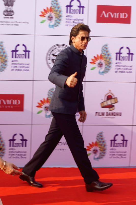 Actor Shah Rukh Khan during the opening ceremony of 48th edition of International Film Festival of India (IFFI) - 2017 in Goa on Nov 20, 2017. - Shah Rukh Khan