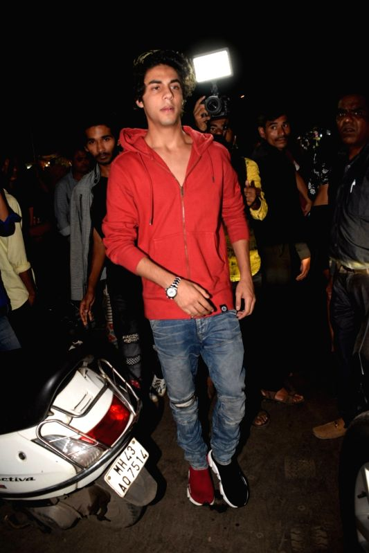 Actor Shah Rukh Khan's son Aryan Khan arrives to attend a programme organised to celebrate Friendship Day in Mumbai's Bandra on Aug 5, 2018. - Shah Rukh Kha and Rukh Khan