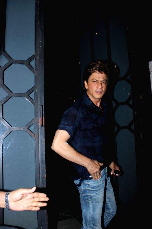 Actor Shah Rukh Khan snapped at The Korner House party in Mumbai on June 10, 2017. Shah Rukh Khan will be seen in Imtiaz Ali`s movie called Jab Harry Met Sejal for the first time. - Shah Rukh Khan