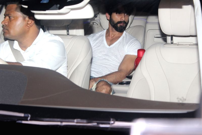 Actor Shahid Kapoor during filmmaker Karan Johar`s 45th birthday celebration party, in Mumbai on May 25, 2017. - Shahid Kapoor