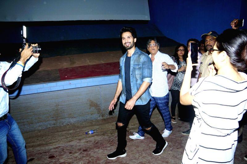 Actor Shahid Kapoor seen at a cinema theater in Mumbai on Jan 28, 2018. - Shahid Kapoor