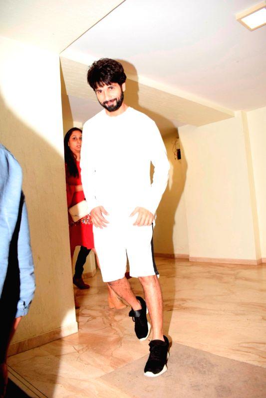 Actor Shahid Kapoor seen at Sunny Super Sound studio in Mumbai on Aug 2, 2018. - Shahid Kapoor