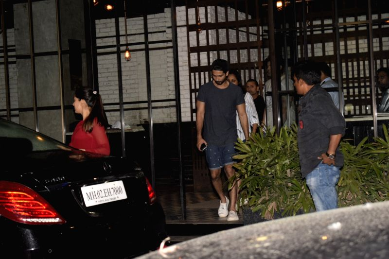 Actor Shahid Kapoor with his wife Mira Rajput seen at Mumbai's Andheri on July 12, 2018. - Shahid Kapoor