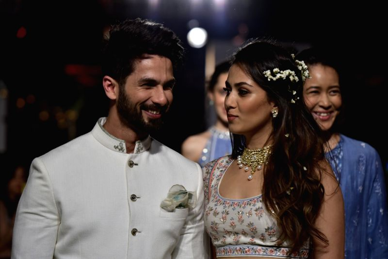 Actor Shahid Kapoor with his wife Mira Rajput.