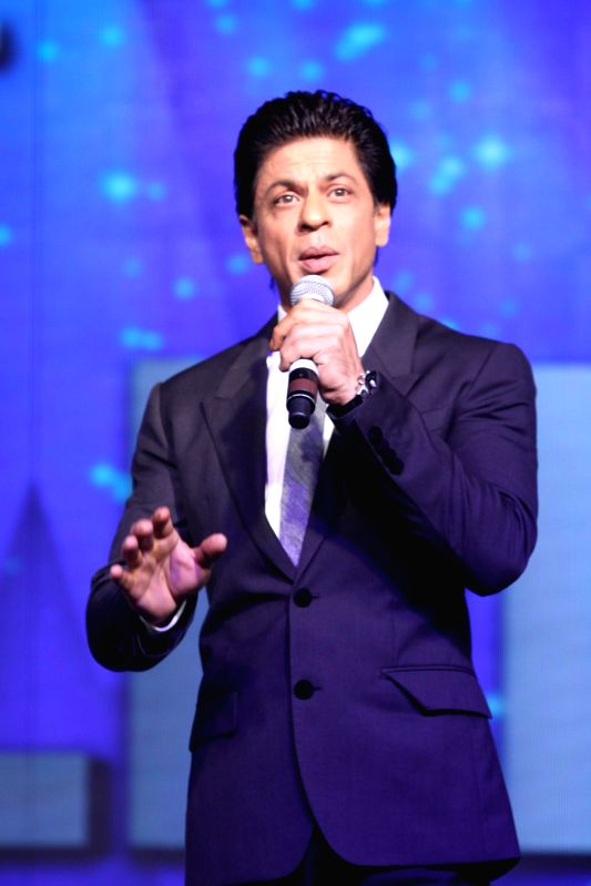 Actor Shahrukh Khan during the announcement of a new television show Got Talent World Stage Live in Mumbai, on August 1, 2014. The show will be hosted by Shahrukh and will be telecast on Colors ... - Shahrukh Khan