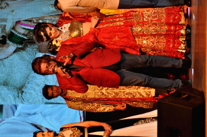 Actor Shakti Kapoor during a fashion show organised to showcase designer Vandy Mehra's creations in Gurgaon on May 14,2014. - Shakti Kapoor
