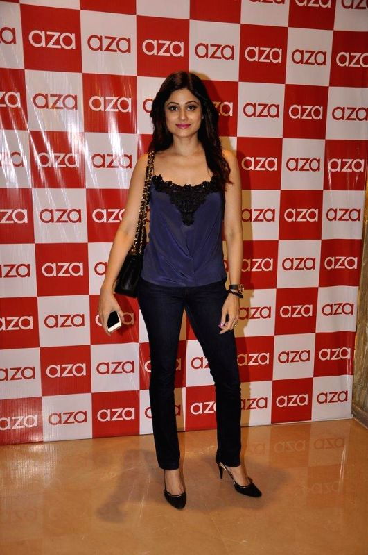 Actor Shamita Shetty during the launch of Aza store in Mumbai, on Aug 28, 2014. - Shamita Shetty