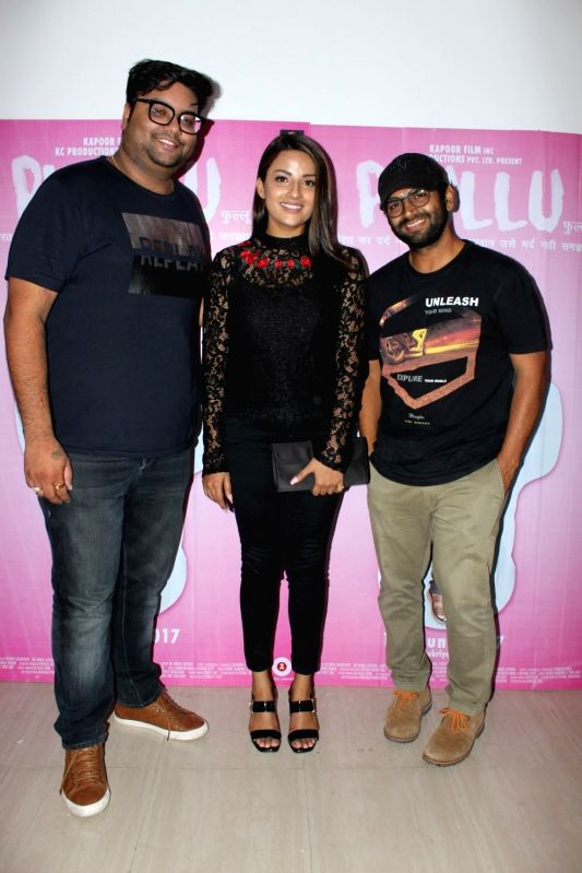 "Actor Sharib Hashmi, Jyotii Sethi and director Abhishek Saxena during a press conference to promote their upcoming film ""Phullu"" in Mumbai on June 8, 2017. - Sharib Hashmi"