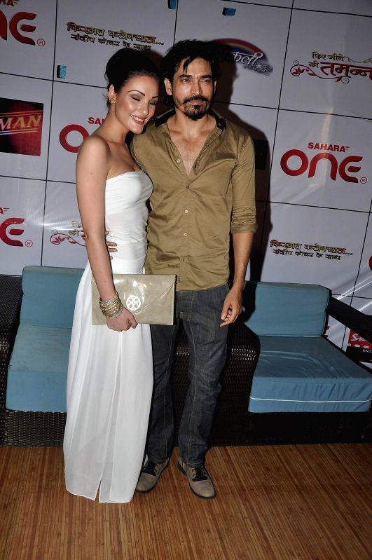 Actor Shawar Ali during the launch of TV serials Phir Jeene Ki Tamanna Hai, Masakali & Kismat Konnection in Mumbai, on May 7, 2014. - Shawar Ali