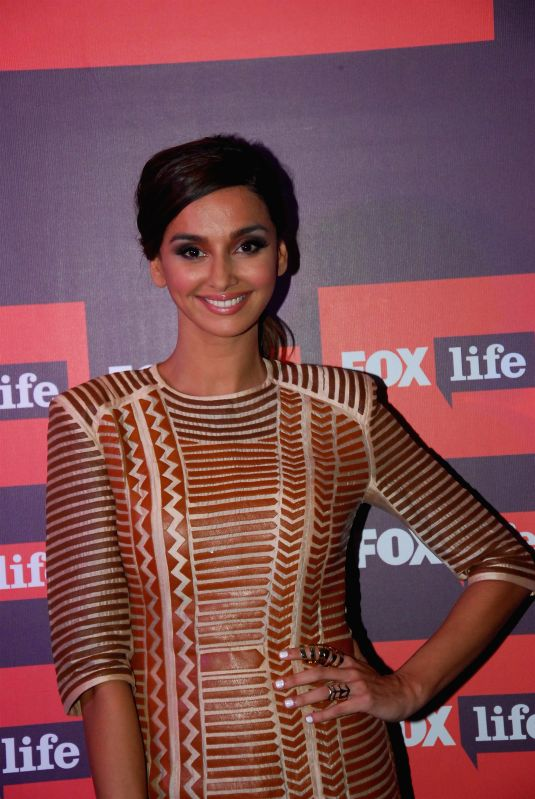 Actor Shibani Dandekar during the launch of Fox Traveller`s new television channel Fox Life in Mumbai on July 16, 2014. - Shibani Dandekar