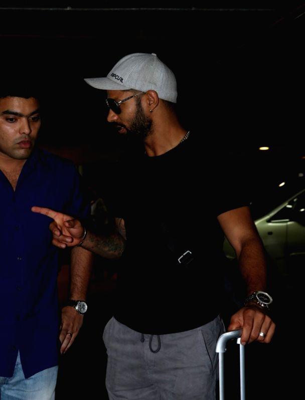 Actor Shikhar Dhawan spotted at airport in Mumbai on May 23, 2017. - Shikhar Dhawan