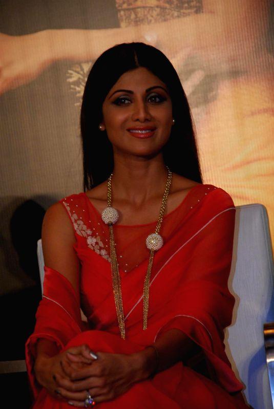 Actor Shilpa Shetty during the announcement of Goa Wedding Show in Mumbai on July 25, 2014. - Shilpa Shetty