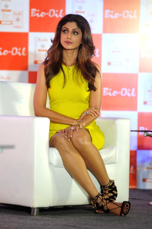 Actor  Shilpa Shetty during the launch of The Yummy Mummy Calender in Mumbai on May 8, 2014.